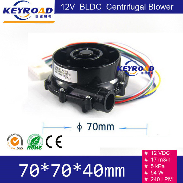 ФОТО 12V 54W 17m3/h High Speed Micro Brushless DC Powerful Fan / Excellent Performance Small DC Electric Blower With 5Kpa Pressure