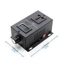Ac 220V 10000W Scr Elektronische Voltage Regulator Temperatuur Speed Passen Controller Dimmer Power Controller