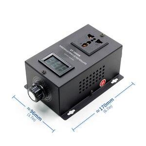 Image 1 - Régulateur de tension électronique SCR 220V 10000W, réglage de la vitesse de la température, variateur de puissance