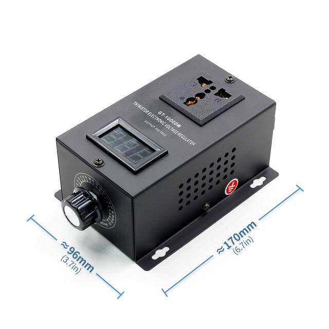 Régulateur de tension électronique SCR 220V 10000W, réglage de la vitesse de la température, variateur de puissance