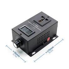 Regulador de voltaje electrónico SCR AC 220V 10000W, ajuste del controlador de velocidad de temperatura, regulador de potencia