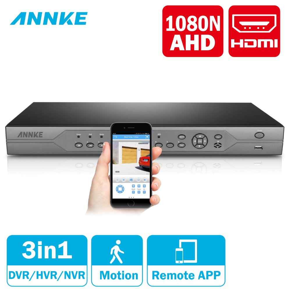 ANNKE 24CH 1080N AHD CVBS IP 3IN1 HDMI DVR 720 P цифрового видео Регистраторы HVR NVR Поддержка удаленного доступа P2P h.264 ONVIF