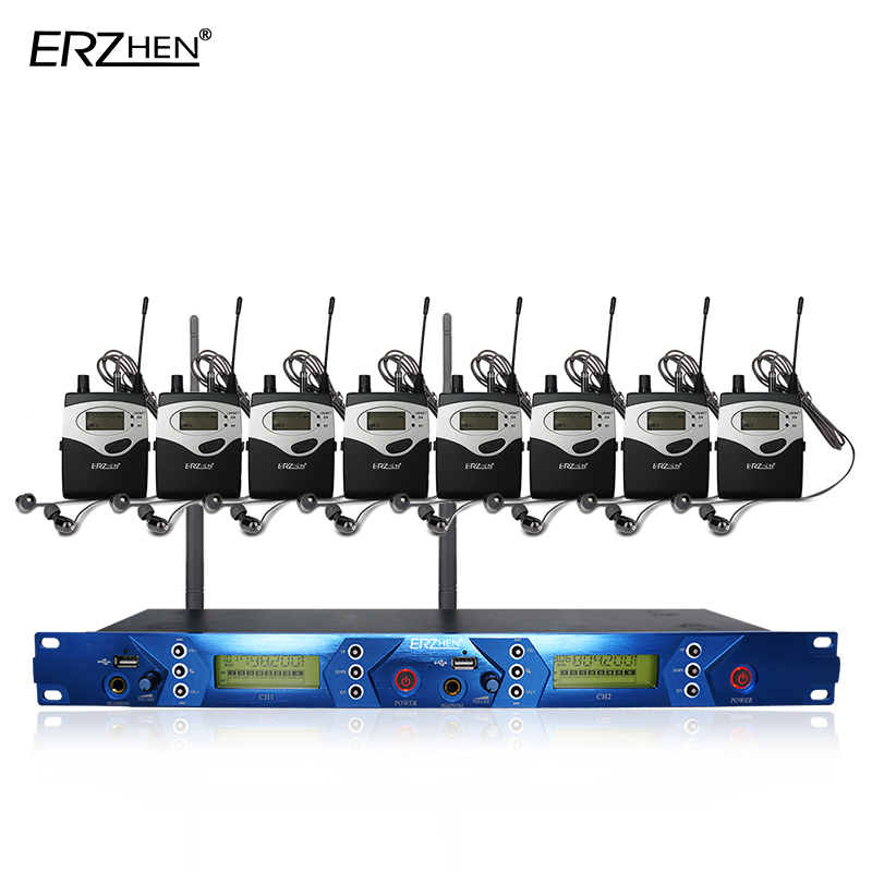 EM5012 en el sistema inalámbrico Ear con 8 receptores y 1 monitor de - Audio y video portátil