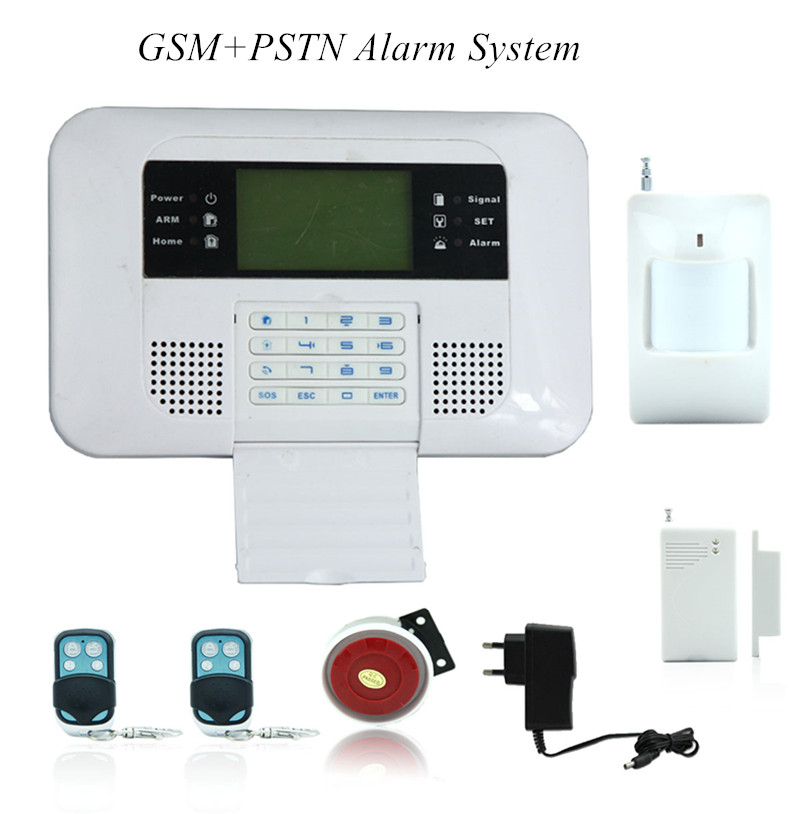 GSM/ PSTN Dual Network Burglar Alarm System free shipping quad band 101 zones dual network pstn