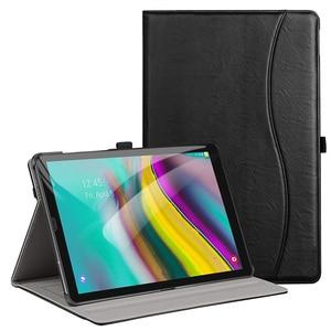 "Image 1 - AROITA מקרה עבור Samsung Galaxy Tab S5E 10.5 ""Tablet 2019, דגם SM T720/SM T725 פרימיום עור מפוצל Stand כיסוי עם רצועת יד"