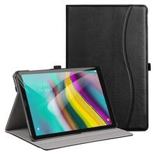 """Aroita caso para samsung galaxy tab s5e 10.5 """"tablet 2019, modelo SM T720/SM T725 premium couro do plutônio suporte capa com alça de mão"""