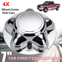 4Pcs 7 Inch Wheel Hub Center Cap Chromium Cover Durable Auto Bolt Caps Car Styling Decor For Ford F150 for Expedition 1997 2003