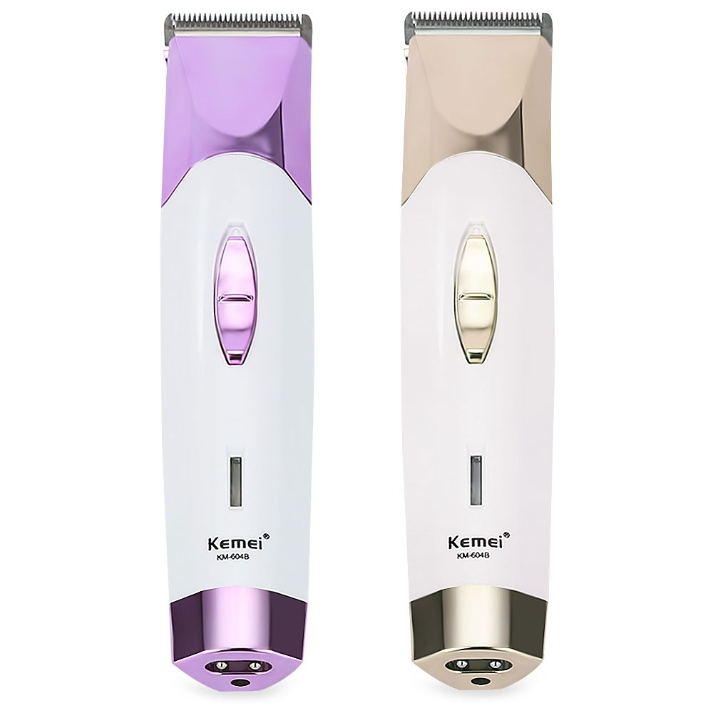 Kemei Original Professional Electric Hair Clipper KM - 604B Cordless Rechargeable 4 Combs EU Plug Haircut Machine Hair Trimmer