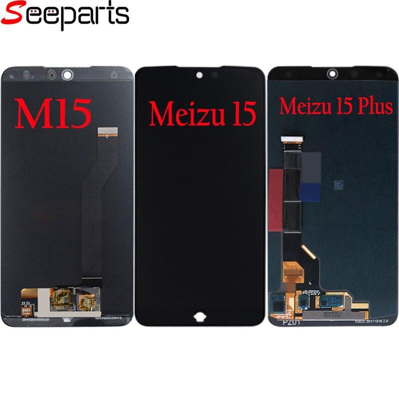 Meizu 15 ЖК-дисплей Дисплей Сенсорный экран планшета Панель сборки M15 Дисплей для Meizu 15 плюс ЖК-дисплей полный Экран Запчасти для авто