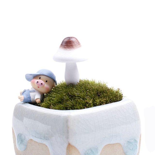 3 Pcs Mini Mushroom Micro Garden Decorations Craft Doll Wooden Mushroom  Design Landscape Ornaments Decorative
