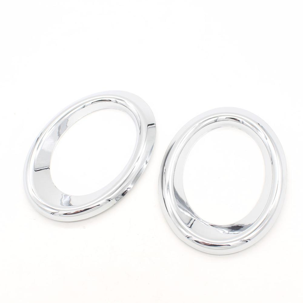Dongzhen 2pcs Car Front Fog Light Lamp Cover Trim Molding Ring Fit For AUDI Q5 2010 2011 Auto Cae Styling Car Cover
