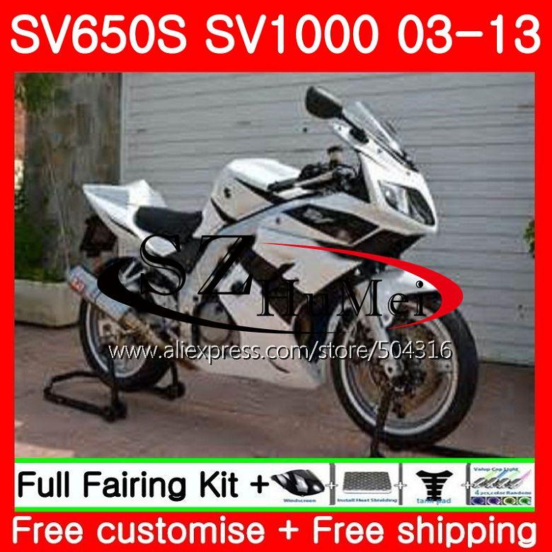 Обтекатель для SUZUKI SV1000S SV650S 03 04 05 06 07 08 106SH20 SV650 1000 S SV 650 S 1000 S черный белый 2003 2004 2005 2006 2007 2008