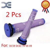 2Pcs Adaptation For Dyson DC59 DC61 74 V6 V8 Cleaner Filter Cartridge Filter Bar Vacuum Cleaner