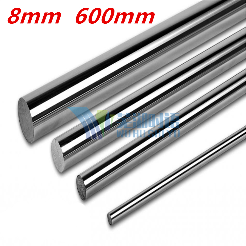 Free Shipping 2pcs/lot 8mm L600mm long for LM8UU harden chromed round rod CNC parts 3D printer linear shaft free shipping ptfe stir rod for overhead stirrer