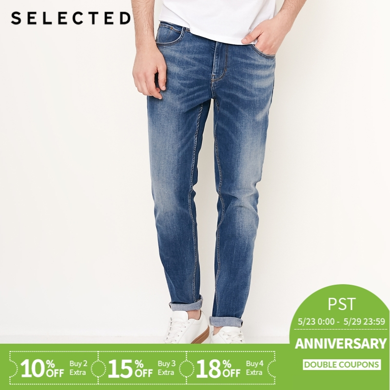 SELECTED The New Men Fall Environment-friendly Fabric Leisure Tapered   Jeans   Fashion Stylish S   418332508
