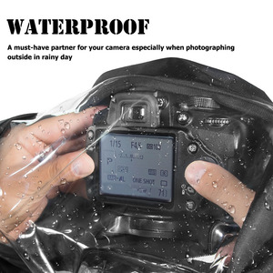 Image 3 - Besegad עמיד למים מים הוכחת מצלמה גשם כיסוי Rainshade מגן מקרה מעיל עבור מצלמות DSLR Canon Nikon Sony Pentax