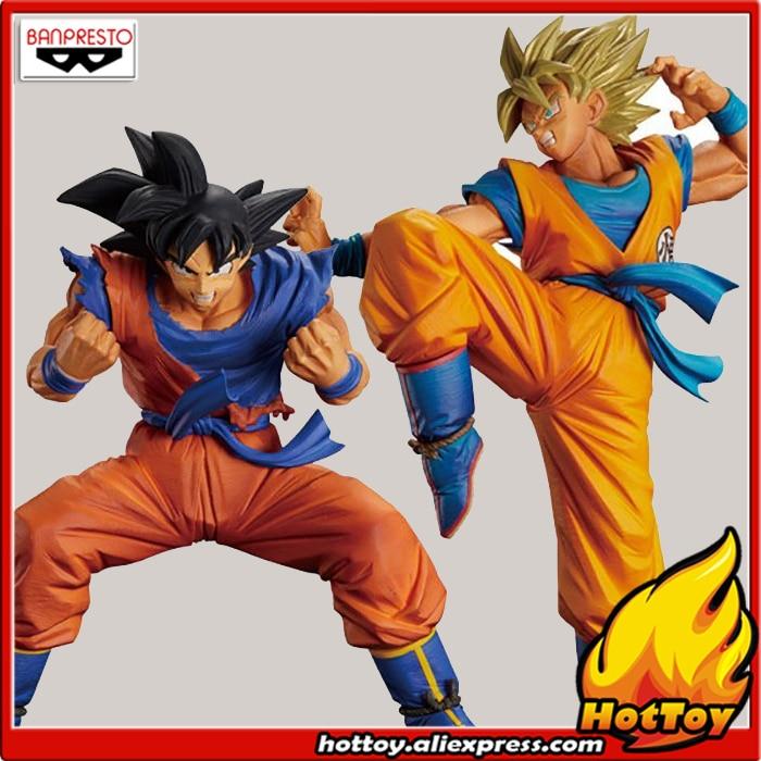 Original Banpresto Son Gokou FES !! vol.2 Collection Figure - Son Gokou + Super Saiyan Son Goku from Dragon Ball Z dragon ball son gokou figure original banpresto genki dama spirit bomb dxf super saiyan figure dragon ball z action figuras