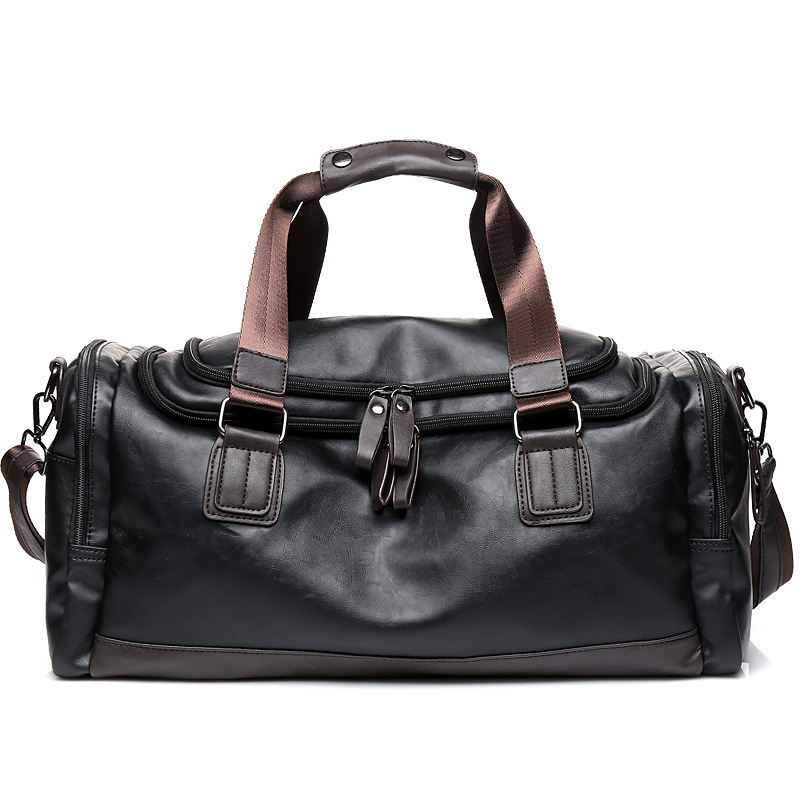 Luxury Brand Travel Bag Leather Casual Men Handbag Big Tote Large Capacity Weekend Luggage Duffle Bag Male Black Shoulder Bags