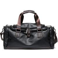 Luxury Brand Travel Bag Leather Casual Men Handbag Big Tote Large Capacity Weekend Luggage Duffle Bag Male Black Shoulder Bags