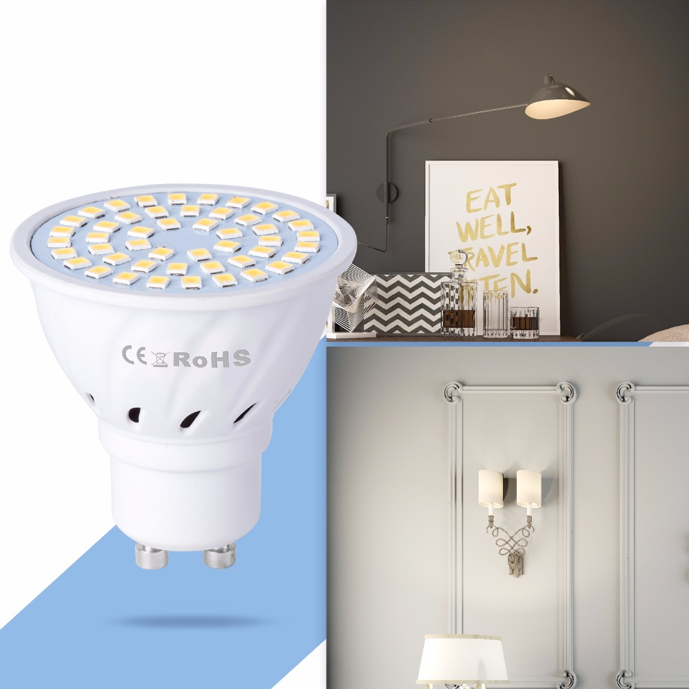Купить с кэшбэком Led ampul GU5.3 Corn Lamp Spot Light Bulb SMD 2835 Energy Saving GU10 LED Spot Table Lamp 48 60 80leds 220V Replace Halogen Led