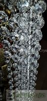 10 Meters Top Quality Crystal Garland Clear Glass Beads Chain For Wedding Tree Decoration Baby Shower