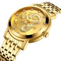Meninos relógios presente dos homens luxo ouro relógio de aço inoxidável famosa marca superior quartzo relógio de pulso esportes negócios reloj deportivo