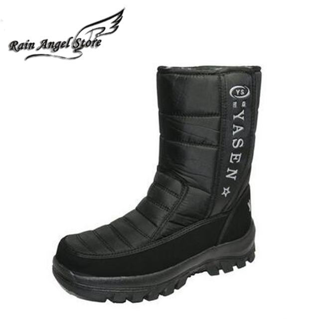De invierno Impermeables Abajo Botas En Tubo de Nieve, Además de Terciopelo Grueso Caliente Patea Los Zapatos Al Aire Libre antideslizante de Gran Tamaño 45