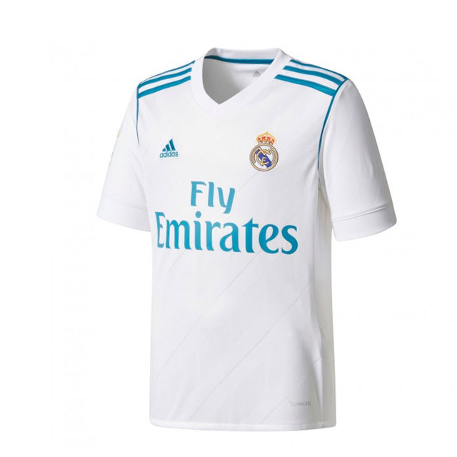 ADIDAS CAMISETA REAL MADRID 2017 2018 niño - camiseta fútbol poliester  blanco - camisetas de futbol 465db8fd07387