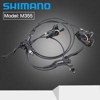 SHIMANO Hydrauliczne Hamulce Tarczowe M355 MTB Mountain Bike Zaciski Lewy i Prawy Dźwignie