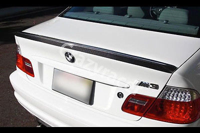 E46 Trunk Boot Lip Spoiler Wing For BMW E46 Coupe 2Door Carbon Fiber M3 Style 1999-2004