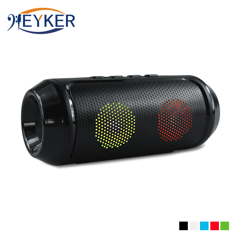 Super Bass Colorful LED Wireless Bluetooth Speaker Portable Stereo Subwoofer TF Card USB FM Radio With Mic Boombox For SoundLink