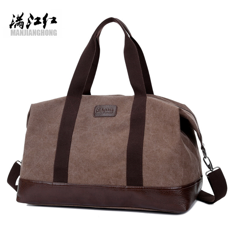 2017 quality travel bag large capacity men hand baggage travel travel bag canvas weekend bag multi-purpose travel bagblackzipper