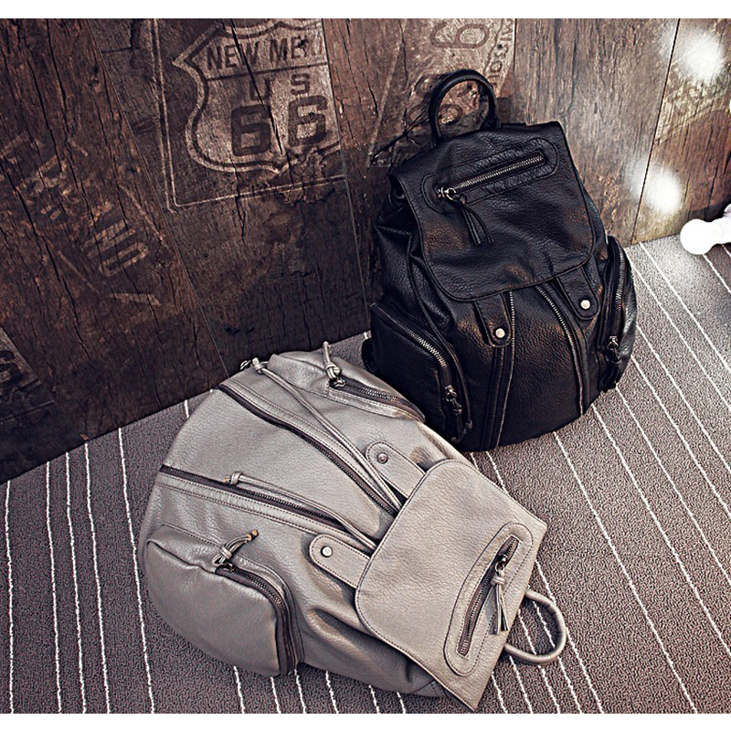 Fashion PU Leather Rivet Backpack Women Shoulder Bags college student shopping Backpack Soft PU material Bag for Teenagers Girls 2017 fashion women waterproof oxford backpack famous designers brand shoulder bag leisure backpack for girl and college student