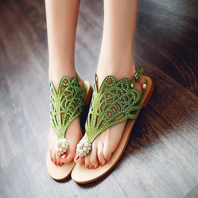 fashion summer shoes women low heels party office lady sandals women 2