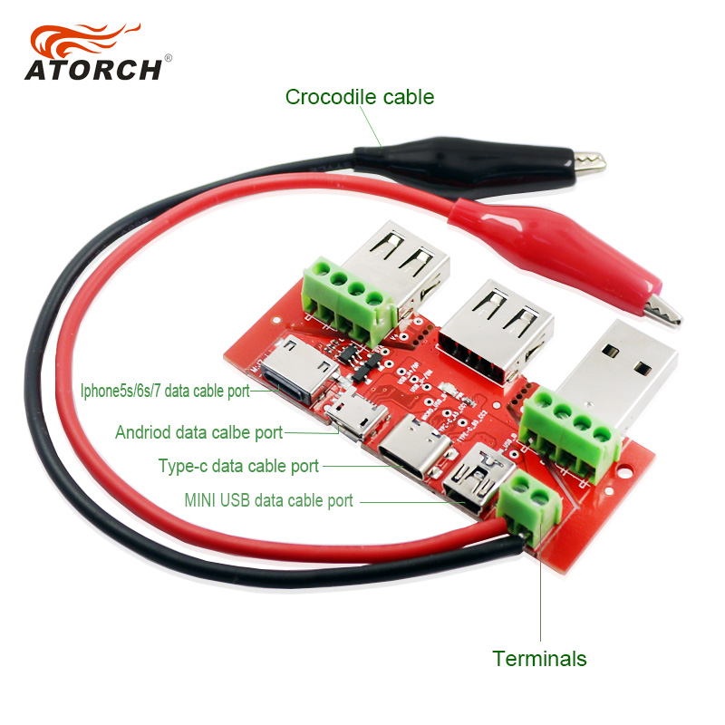 ATORCH USB tester meter ammeter capacity monitor Instruments parts Lightning Type-c Micro MiNi USB cable Adapter converter board win8 10 mac android ftdi ft232rl usb rs232 db9 serial adapter converter cable
