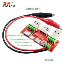 Atorch usb tester medidor amperímetro capacidade monitor instrumentos peças relâmpago tipo c micro mini cabo usb adaptador conversor placa