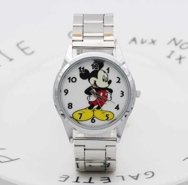 2018 Fashion Brand Mickey Mouse newest luxury quartz watch Lady SlimStainless St