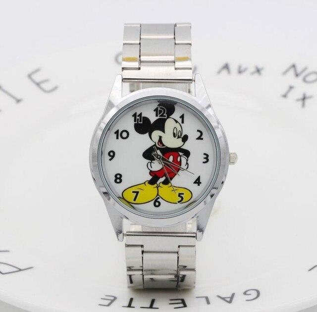 19cbc8c7b4d 2018 Marca de Moda Mickey Mouse mais novo luxo relógio de quartzo Senhora  Relógio de Malha