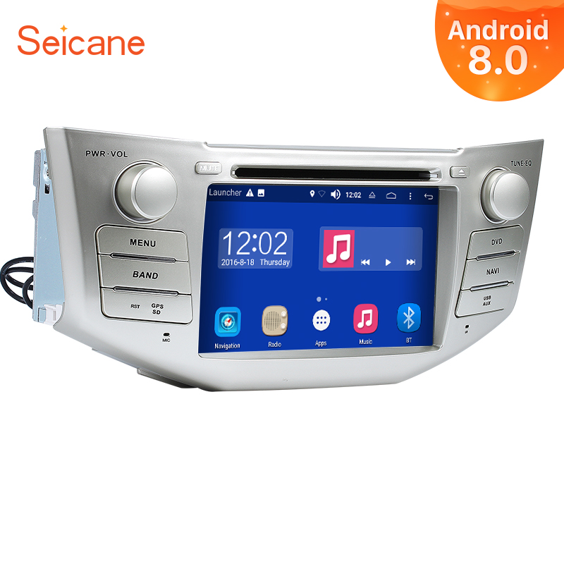 Seicane Android 8.0 7inch 2Din Car Radio Stereo In Dash DVD GPS System Wifi Multimedia Player For 2004 2012 Toyota Harrier