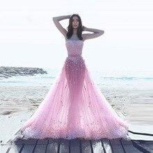 b3f91235c9fb6 Verngo 2019Two قطع الزفاف اللباس حار الوردي شاطئ فساتين Flowes الدانتيل ألف  خط مثير أحدث القادمة فستان زفاف
