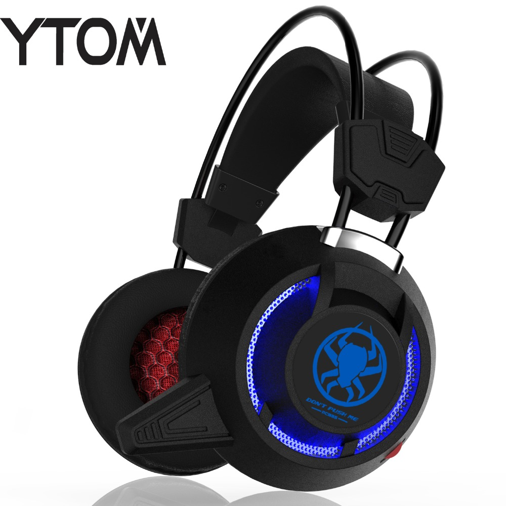 YTOM PC85 TOP MIC Gaming headset computer Headphones gamer Surround Sound USB Noise Cancelling Wired LED headset for PC gamer each g8200 gaming headphone 7 1 surround usb vibration game headset headband earphone with mic led light for fone pc gamer ps4