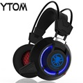 YTOM PC85 TOP MIC Gaming headset computer Headphones gamer Surround Sound USB Noise Cancelling Wired LED headset for PC gamer