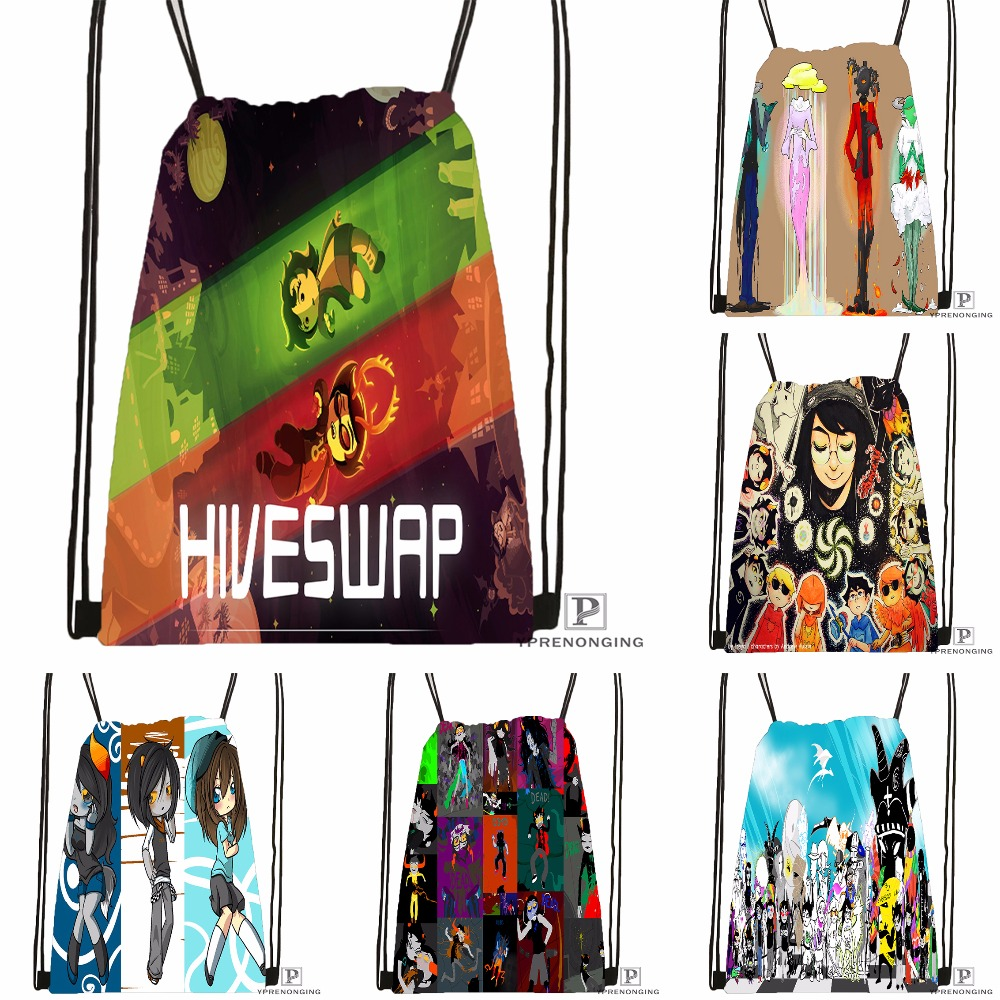 Custom Homestuck.full. Drawstring Backpack Bag Cute Daypack Kids Satchel (Black Back) 31x40cm#180531-04-27