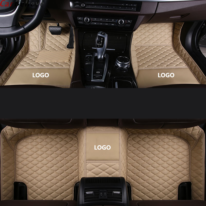 Car Believe Auto car floor Foot mat For <font><b>hyundai</b></font> <font><b>santa</b></font> <font><b>fe</b></font> solaris 2011 tucson 2017 elantra accent i30 waterproof car <font><b>accessories</b></font> image