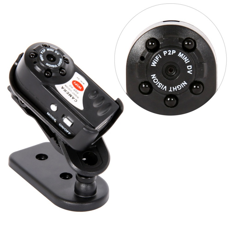 New Mini Q7 Camera 480P Wifi DV DVR Wireless IP Cam Brand New Mini Video Camcorder Recorder Infrared Night Vision Small Camera 480p 2017 digital hd cmos 2 0 camera video audio mini camera small camcorde dv dvr recorder web cam