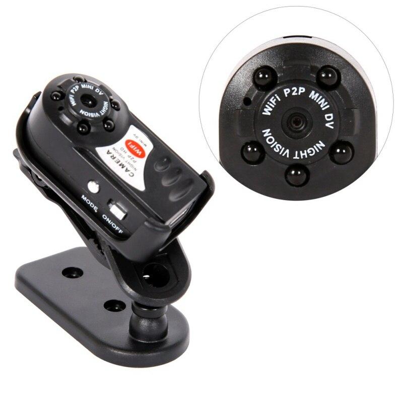 Nuevo Mini Q7 Cámara 480 P Wifi DV DVR inalámbrico IP Cam nuevo Mini vídeo de videocámara grabadora de noche visión pequeña cámara
