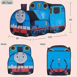 Akitoo129 прибытие маленький поезд детская палатка крытый и открытый детский игровой домик головоломка подарок на день рождения Складные Игруш...