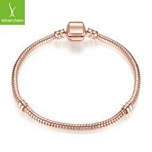 Silver & Gold Color Love Snake Chain Fit Original WOS Bracelet 16- 23cm