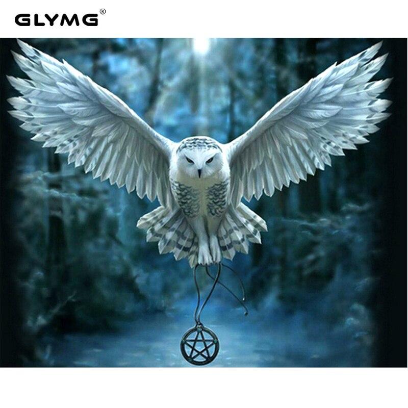 GLymg Bricolage Ailes Aigle Diamant Broderie Grand Oiseau Animal Photo Diamant Peinture Point De Croix Mur Autocollants Couture Décor À La Maison