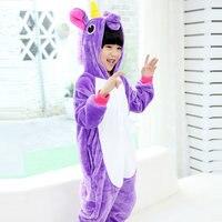 Halloween Baby Boys And Girls Christmas Pajamas Children Animal Cospaly Unicorn Pegasus Pajamas Winter Flannel Kids